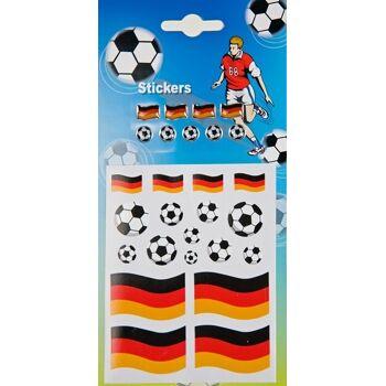 27-99622100, Sticker Fußballaufkleber und Fahnenaufkleber Deutschland