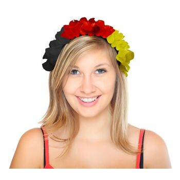27-99622300, Blumen, Blüten Haarreif, Deutschlandfarben, Blumenkette, Hawaiikette, Blütenkette