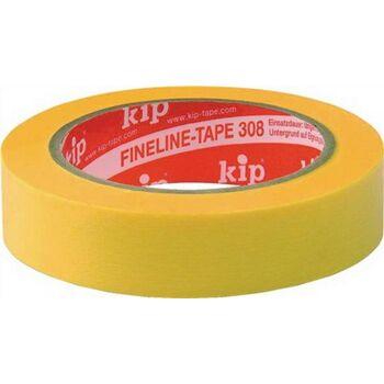Kip FineLine-tape Washi gelb L.50m B. 25mm, 24 Stück