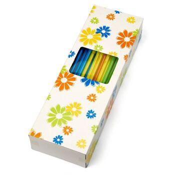 28-101988, Trinkhalm 100er farbig in Spenderbox, Strohhalm, PArty, Event, usw