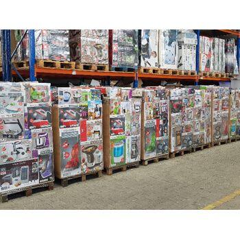 Mixpaletten Elektro-/ Haushaltsgeräte LKW für Export Dampfbügelstation, Staubsauger, Wasserkocher, Küchenmaschine und vieles mehr.