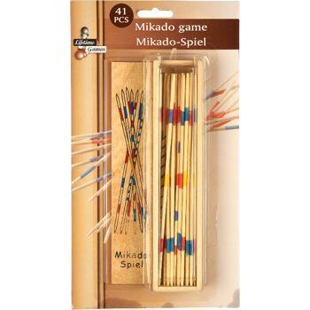 28-508405, Mikado Spiel 41 teilig, in Holzdose, auf Blister