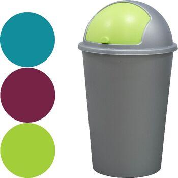 28-904253, Abfalleimer 50 Liter mit Einwurf im Deckel, Mülleimer
