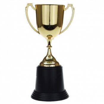 10-544240, goldfarbiger Pokal mit Henkel 22 cm