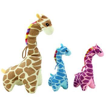 27-23080, Plüsch Giraffe stehend 25 cm, Zootier, Wildtier, Kuscheltier