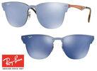 Topmodische Ray-Ban Blaze Clubmaster RB3576N Sonnenbrille Violett Verspiegelt Unisex Design Sonnenbrillen Sunglasses Brille Brillen
