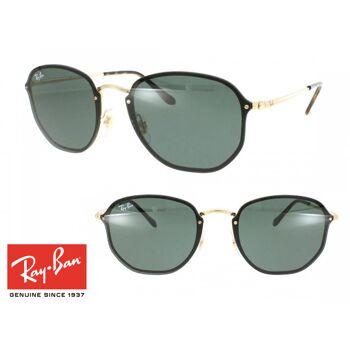 Topmodische Ray-Ban Blaze Hexagonal RB3579N Sonnenbrille Grün Unisex Design Sonnenbrillen Sunglasses Brille Brillen