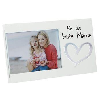 28-570771, holz Bilderrahmen Beste Mama, 25x1,2x13 cm, zum Hängen und Stellen