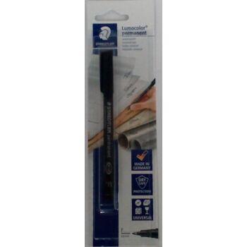 12-318478, Folienschreiber Staedtler Permanent F schwarz  Lumocolor