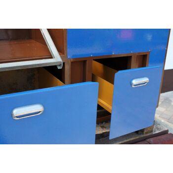 Grosser Metall- Flocktisch beflocken Beflockung Textilien veredeln