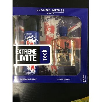 JEANNE ARTHES -  Extreme Limite Rock  DEO 200ml + EDT 100ml  FOR MEN