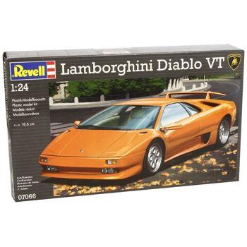 27-50133, REVELL Lamborghini Diablo VT Modellbausatz 1:24++++