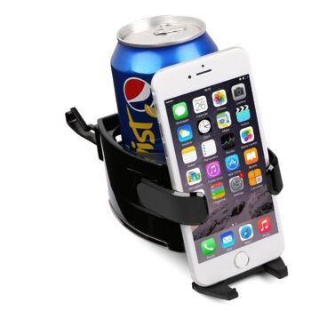 Multifunktion Getränkehalter Lüftungshalterung Handyhalterung 2 in 1^