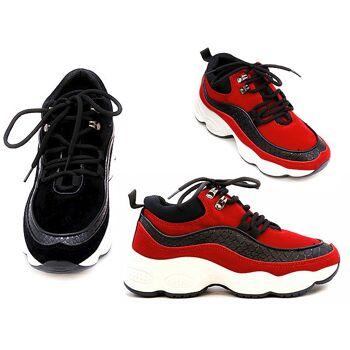 Damen Trend Plateau Sneaker Schnür Schuhe Schuh Shoes Sportschuhe Freizeit Schuh nur 13,90 Euro