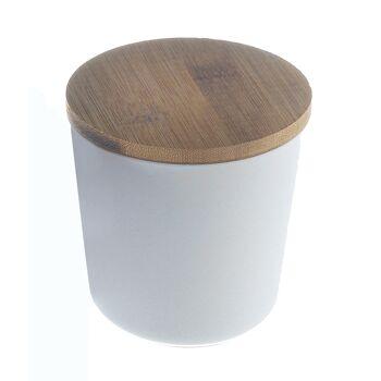 17-72361, Vorratsdose 10 cm aus Bambus/Maismehl/Resin, creme