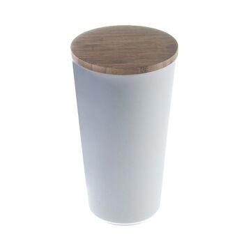 17-72363, Vorratsdose 18 cm aus Bambus/Maismehl/Resin, creme