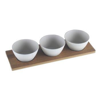 17-72365, Dipp-Schälchen-Set 4-teilig, aus Bambus/Maismehl/Resin