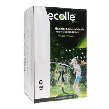 ecolle premium Gartenschlauch mit Handbrause 15m