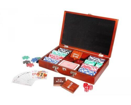 Natural Games Pokerset im Holzkoffer mit 200 Chips
