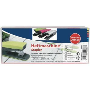 12-42655, Blatthefter, Heftmaschine  24/6 inkl. 1.000 Heftklammer