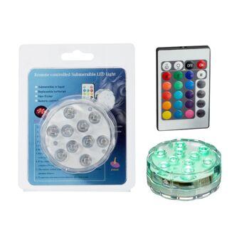 17-72792, MEGA LED Teelicht, wasserdicht, mit Farbwechsel und Fernbedienung, 10 LEDs