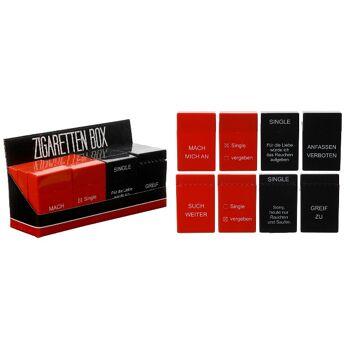 17-61730, Zigaretten Box mit Sprüchen, Zigarettenetui, Zigarettenschachtel