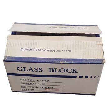 Glasbaustein 19x19x8cm
