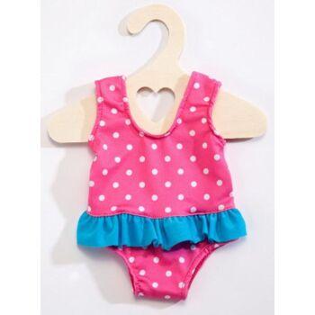 Puppen-Badeanzug pink, Punkte, 35 - 45 cm, 1 Stück