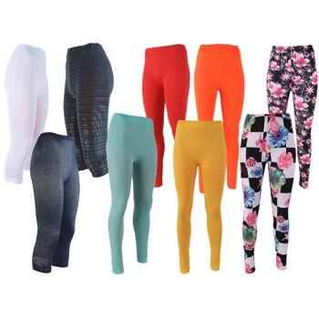 Mixposten Modischer Damen Leggings Lang und 3/4 Capri Legging Sommer Frühjahr versch. Modelle Trend Strass Jeansoptik Blumen - 1,95 Euro