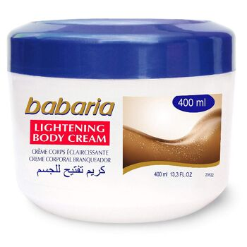 BABARIA - Lightening Körpercreme - 400 ml / Babaria Skin Lightening Body Cream 400ml