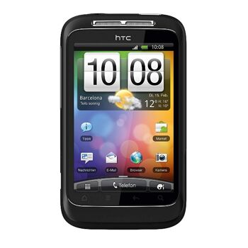 HTC Wildfire S Smartphone (8.1 cm (3.2 Zoll) Touchscreen, WiFi (b/g/n), Android OS 2.3.3)