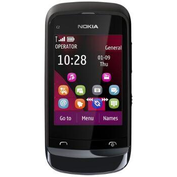 Nokia C2-02/C2-06 Smartphone (6,6 cm (2,6 Zoll) Touchscreen, 2 Megapixel Kamera, Bluetooth