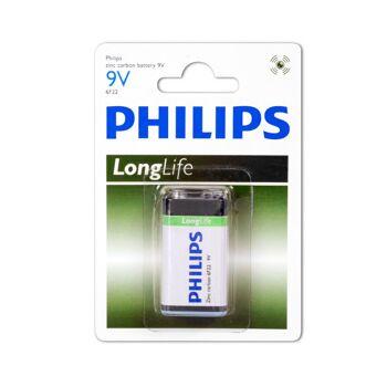 Philips Longlife 6F22 / 9-Volt Block  / BP1
