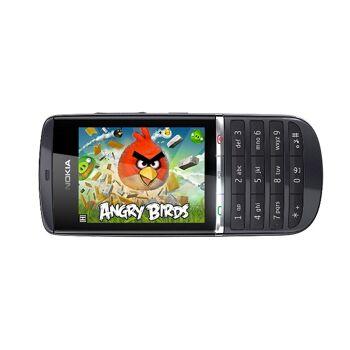Nokia Asha 300 Handy - 3G-Bar - 6,1 cm (2,4 Zoll) LCD-Bildschirm 320x240 - Touchscreen - 5 Megapixel-Kamera - Quad-Band - Bluetooth - USB -