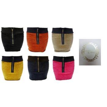 6 Farben Frauen Miniröcke mit Reißverschluss