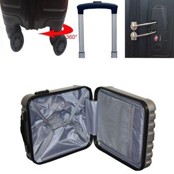 Ecolle Pilotenkoffer silber ABS + TSA Schloss