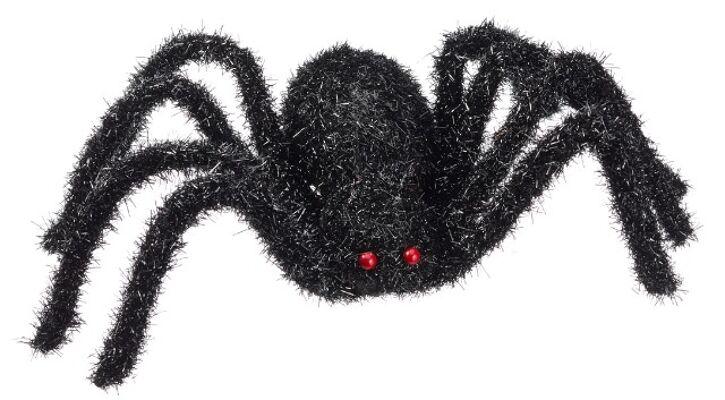 17-28511, Riesen Schwarze Spinne 70 cm mit roten Augen