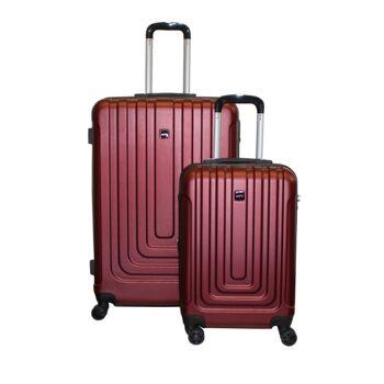 Ecolle Kofferset 2 tlg. rot ABS + TSA Schloss