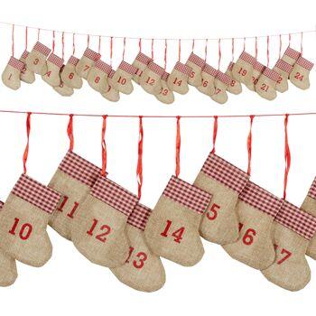 17-73117, Adventskalender Socken, Nikolausstiefel