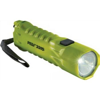 LED Taschenlampe PELI 3315 1W LED 110lm EX-Zulassung, gelb, mit Handschlaufe