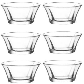 LAV 6 tlg. Glasschalen Truva  Schalen Glasschale Dessertschale Vorspeise Glas Gläser 190 ml
