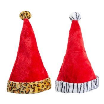 17-41950, Weihnachtsmütze 45 cm, gefüttert, Tierlook, Wildtier, Nikolausmütze
