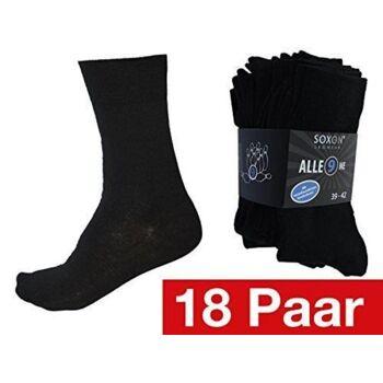 18 Paar Herren Business Socken + schwarz Gr. 43-46 Schwarz
