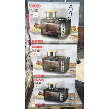 UNOLD 68865 Kleinküche 3 in 1 Backofen Herd Grill