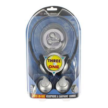 3 tlg.Stereo Kopfhöhrerset