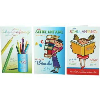 28-019815, Karten Schulanfang mit Umschlag, Glückwunschkarten, Geschenkkarten