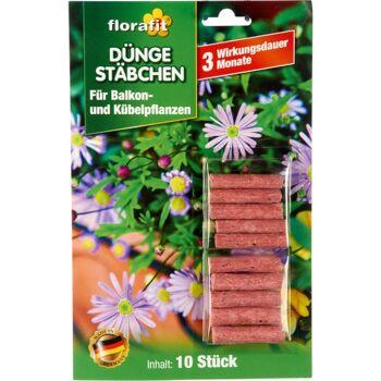 28-022405, Düngestäbchen 10er Pack für Balkonpflanzen und Kübelpflanzen