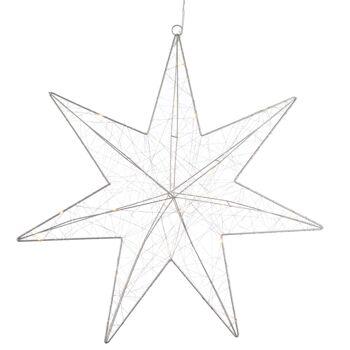 17-33987, Metall LED Stern Silberdraht 50 cm