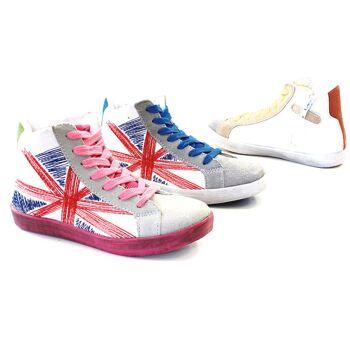 Kinder Mädchen Trend Sneaker Größen 24-35 Schnür Schuhe Schuh Shoes Sportschuhe Freizeit Schuh nur 7,25 Euro