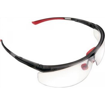 Schutzbrille Adaptec Rahmen schwarz/rot PC-Scheibe klar normale Gr.EN166-FT